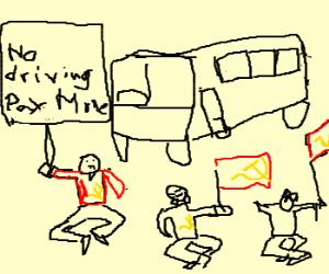 Communist bus drivers go on strike