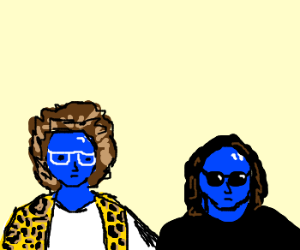 Blue man group is party rocking