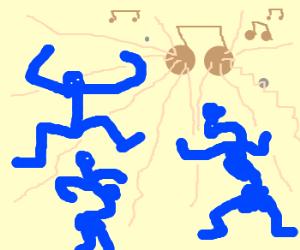 Bluemans dancing in the ballad