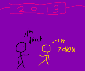 new 2013 year; everyone is yellow or black