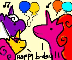 colored unicorn party