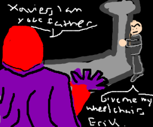 Darth Magneto is Luke Xavier's Father.