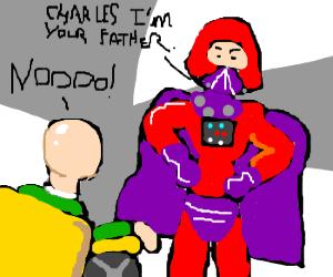 Darth Magneto is X's father.