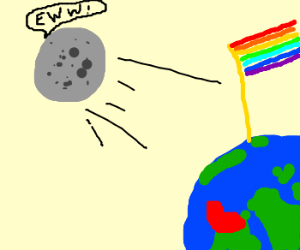 the moon leaving the earth because its gay