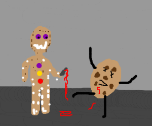 gingerbread man killed the cookie