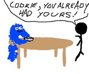 the cookie monster eats your breakfast