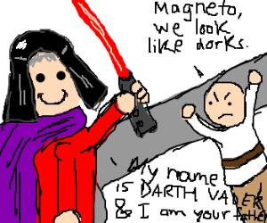 magneto,prof x re-enacting Iamyourfather scene
