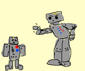 Young L8L the robot gets caught and scolded