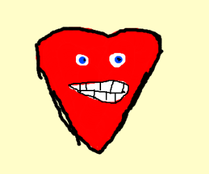 happy red heart
