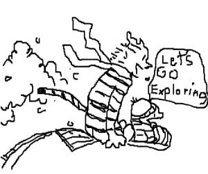 """Final Calvin & Hobbes """"Let's Go Exploring"""""""
