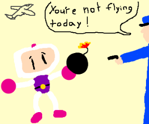 Bomberman Arrested at Airport