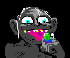 gollum loves his delicious ringpop