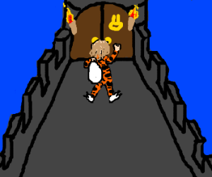 Trick or Treating up a castle tower
