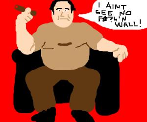 Tony tries to sneak past the Grrrrrrrreat Wall