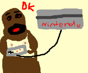 Donkey Kong plays Nintendo