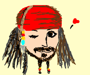 Captain Jack Sparrow turns on his charm ;D