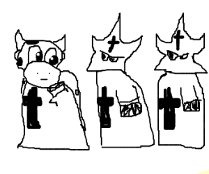 KKK Cows.