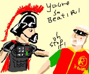 Roman warrior Vader loves Obi-Robin-Kenobi
