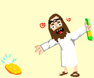 jesus is drunk and lost his fabergé egg