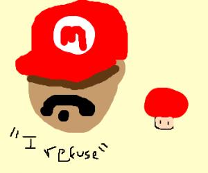 Mario refuses to get bigger.