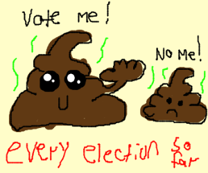 vote for one of the two turds