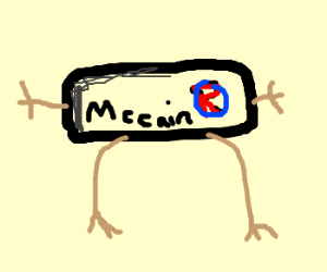 mccain bumper sticker trying to be Mr. un