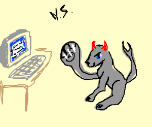 Comp vs. blueeyed devilcat w/ huge right paw