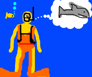 Scuba Steve thinks of fish