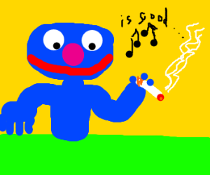 Grover endorses cigarettes with song