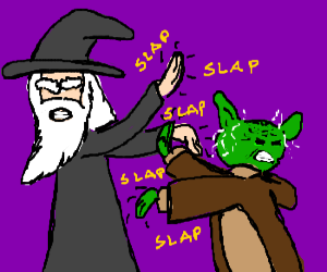 Gandalf and Yoda fight!