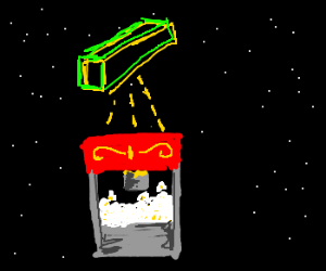 popcorn maker shoots neon butter in space