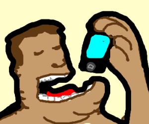 Fat kid eats an ipod