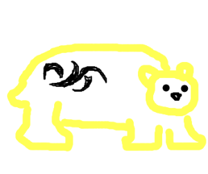 Ice bear with tribal tattoos