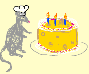 Rodent chef presents CHEESEcake
