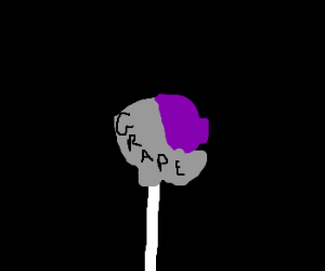 half opened purple lollypop