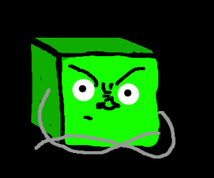 angry green square w/ crossed arms