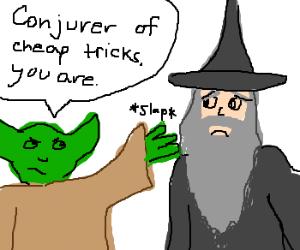 Yoda slaps Gandalf