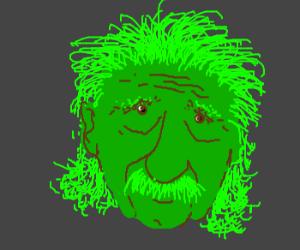 Einstein after a green slushie