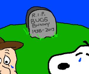 Elmer & Snoopy miss Bugs Bunny again