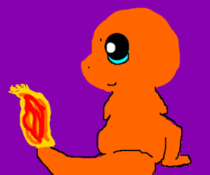 Charmander is too adorable to consider creepy