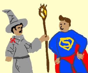 Hitler-Gandalf meets Übermensch (Superman!)
