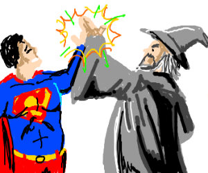 Naz! Gandalf meets Superman