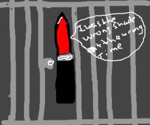 lipstick in jail