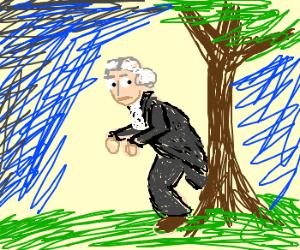 George Washington Sneaking Around