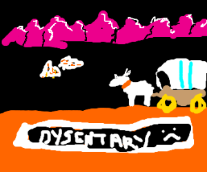 You have died of Dysentery (Oregon Trail)