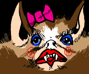 Vampiric bat is such a cutie.