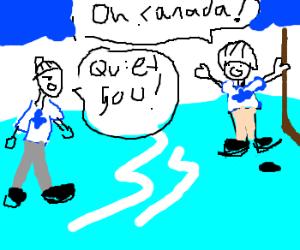 O Canada again?  can you turn off the volume?