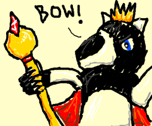 King Badger insists upon your veneration