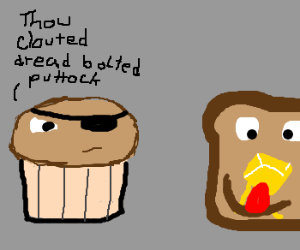 Trouble muffin makes fun of derpy toast