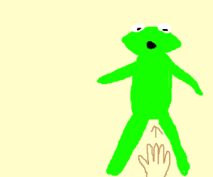 Kermit discovers he's a puppet